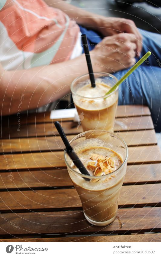 coconut coffee Dessert Ice cream Candy Nutrition Beverage Drinking Cold drink Coffee Iced coffee Glass Straw Spoon Vacation & Travel Tourism Trip Sightseeing