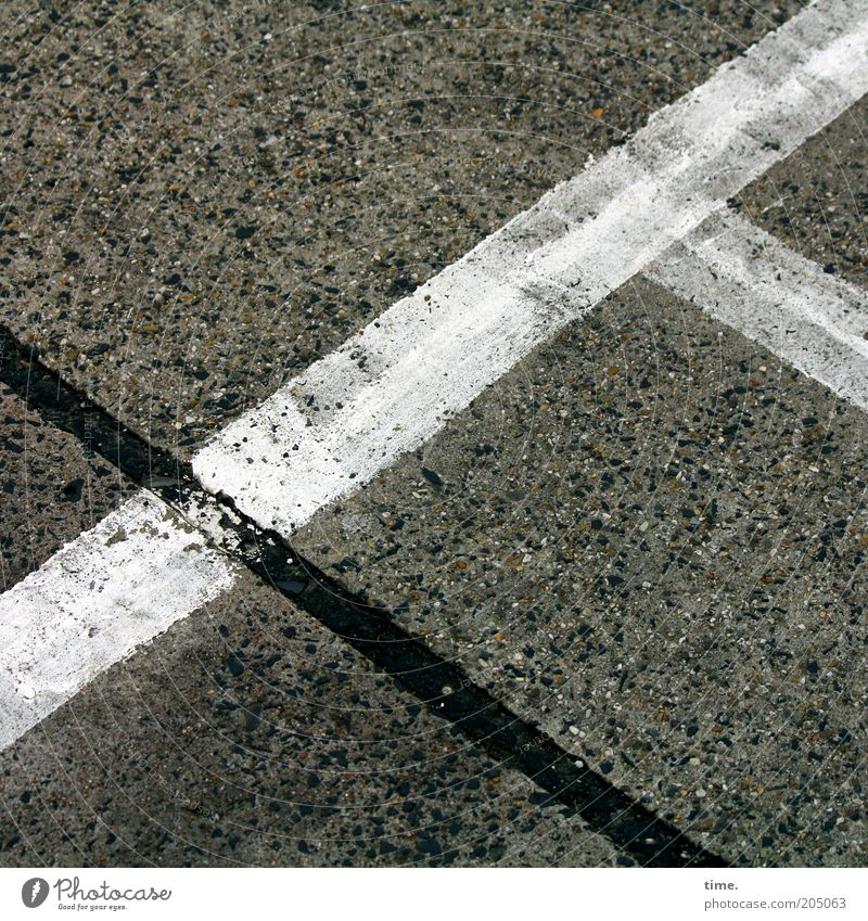 White Black Colour Dirty Concrete Corner Ground Floor covering Asphalt Stripe Diagonal Parking lot Tar Resting place Lane markings Wacky