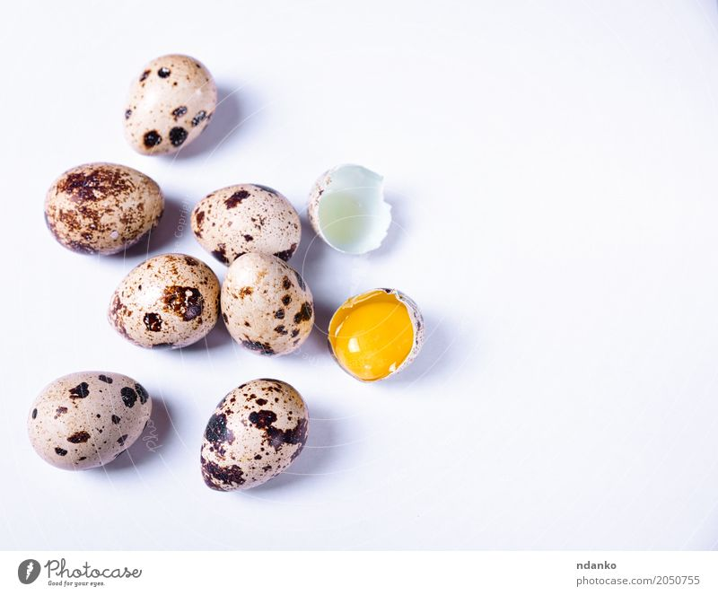 Fresh quail eggs in the shell Eating Breakfast Diet Easter Group Nature Small Natural Above Gray White Tradition Yolk eco Organic Farm Tasty healthy Shell