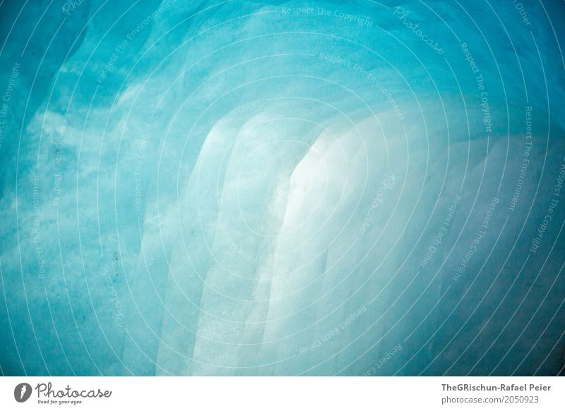 ice grotto Nature Blue Turquoise White Glimmer Ice Glacier Cold Wet Transparent Esthetic Colour photo Deserted Copy Space left Copy Space right Copy Space top