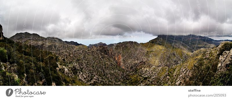 Nature Clouds Mountain Landscape Weather Environment Rock Esthetic Exceptional Majorca Panorama (Format) Storm clouds