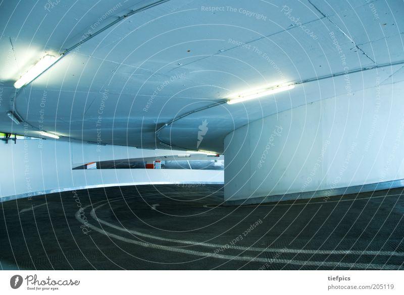Street Line Architecture Concrete Transport Modern Round Curve Upward Parking lot Neon light Garage Parking garage Subsoil