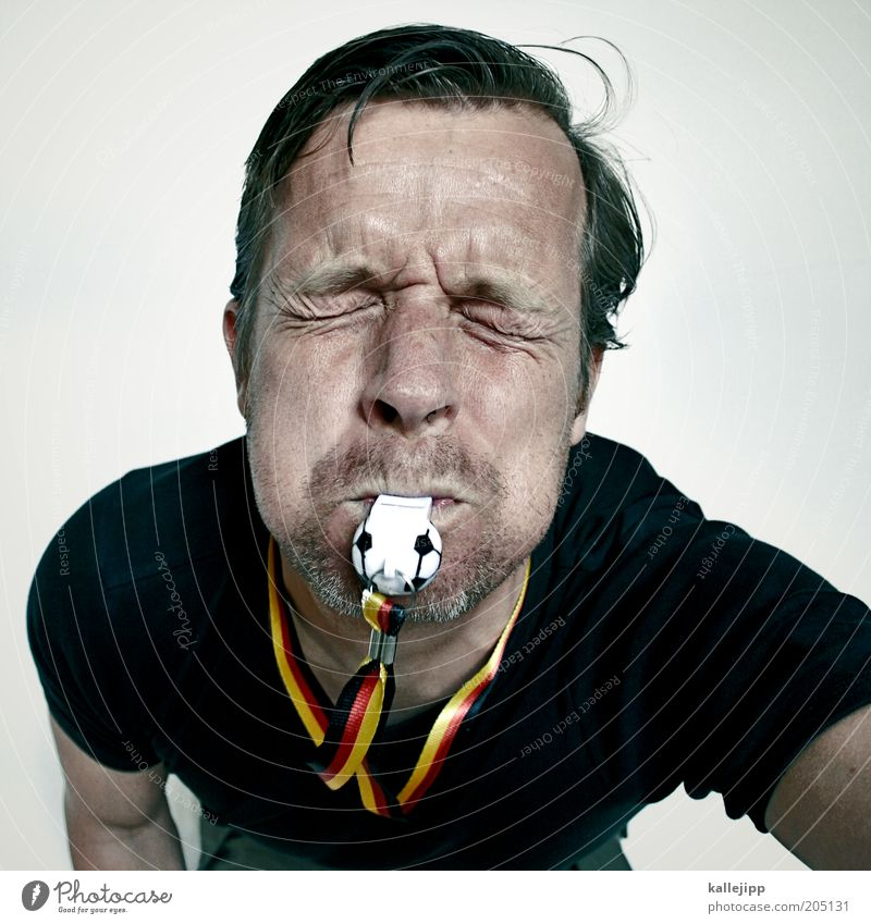 Human being Man Face Sports Life Emotions Soccer Adults Germany Crazy German Flag Facial expression Fan Effort Loud Enthusiasm