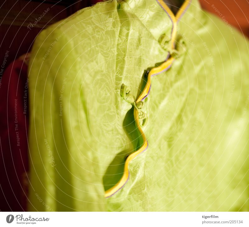 chinese cheongsam with focus on the frog fasteners cheongsam; silk China East asian Blouse Mandarin Collar Neckband Tall Yellow lime Green shimmer qipao Top