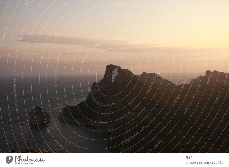 Cap Formentor Landscape Water Sky Summer Colour photo Dawn Panorama (View) Cape Mediterranean sea Island