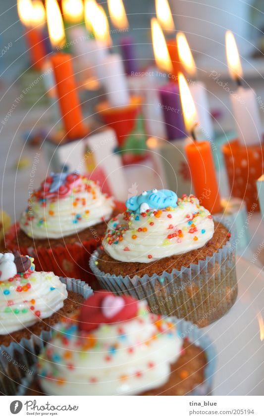 Old Joy Happy Feasts & Celebrations Food Orange Decoration Birthday Nutrition Heart Joie de vivre (Vitality) Candle Candy Jubilee Cake Kindergarten
