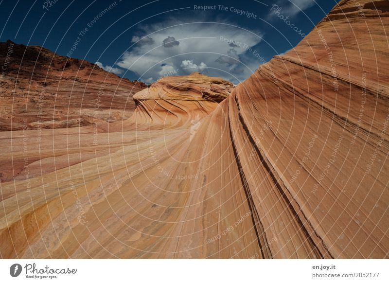 natural forces Nature Landscape Rock Canyon Desert Exceptional Orange Bizarre Uniqueness Climate Vacation & Travel Surrealism Transience Coyote Buttes