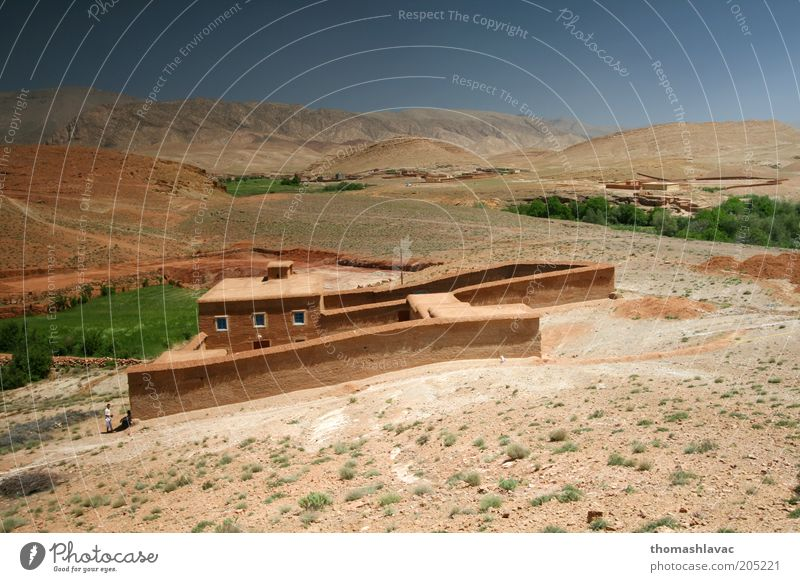 Clay house in valley of Atlas Sky Nature Vacation & Travel House (Residential Structure) Environment Window Landscape Wall (building) Mountain Warmth