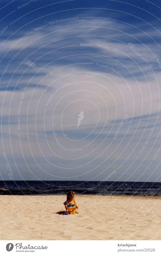 Child on the beach Beach Summer Ocean Sun Water Blue sky
