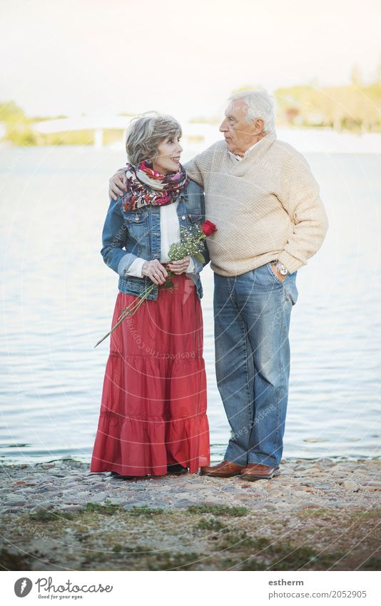 Portrait Of Romantic Senior Couple Lifestyle Feasts & Celebrations Valentine's Day Human being Masculine Feminine Female senior Woman Male senior Man