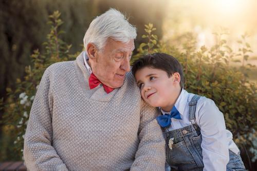 grandparent with grandchild smiling outdoor Human being Child Joy Lifestyle Love Senior citizen Emotions Funny Boy (child) Laughter Family & Relations Garden