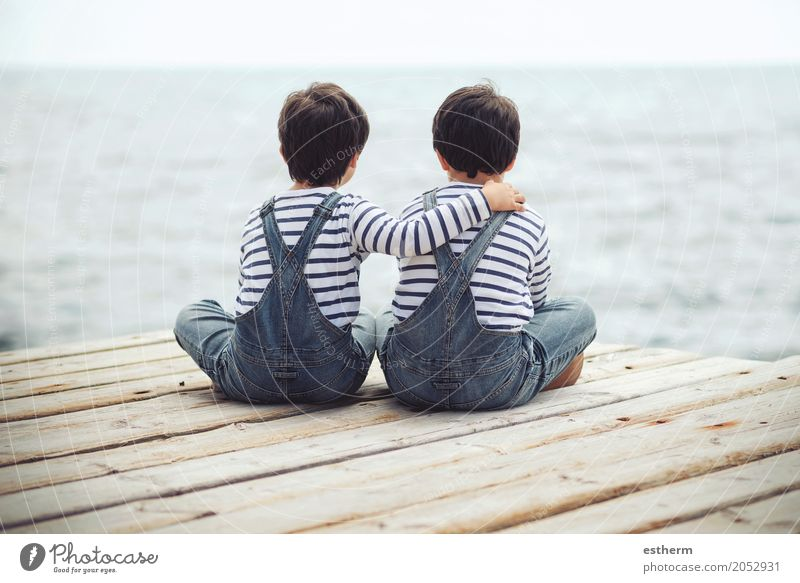 Brothers Human being Child Adults Lifestyle Love Emotions Boy (child) Family & Relations Happy Together Friendship Masculine Infancy Adventure Protection Safety