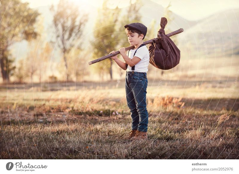Thoughtful kid travel Human being Child Nature Vacation & Travel Loneliness Forest Lifestyle Sadness Emotions Boy (child) Freedom Think Leisure and hobbies Trip