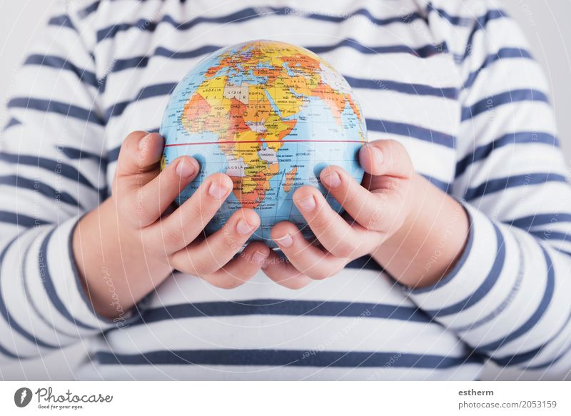 child with a world globe in His Hands Human being Child Vacation & Travel Joy Lifestyle Boy (child) Tourism Together Trip Infancy Arm Adventure Fingers Sphere