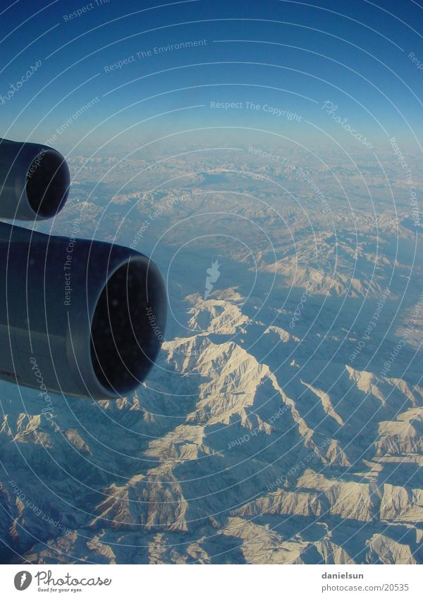 Snow Mountain Airplane Aviation Engines Turkey Above the clouds Ankara