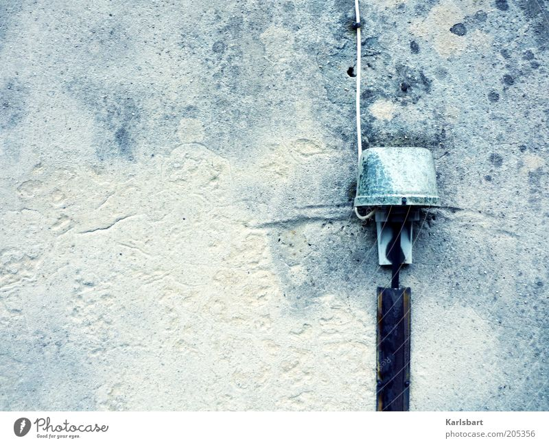 Wall (building) Gray Environment Wall (barrier) Facade Energy Modern Electricity Technology Cable Telecommunications Connection Plaster Stagnating Installations