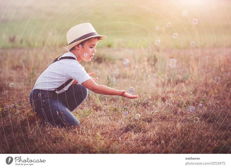 child playing Human being Child Nature Summer Landscape Calm Joy Lifestyle Spring Love Emotions Boy (child) Happy Garden Masculine Park