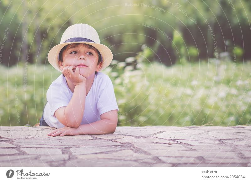 happy child Human being Child Nature Landscape Joy Life Lifestyle Spring Emotions Funny Boy (child) Happy Garden Moody Dream Masculine