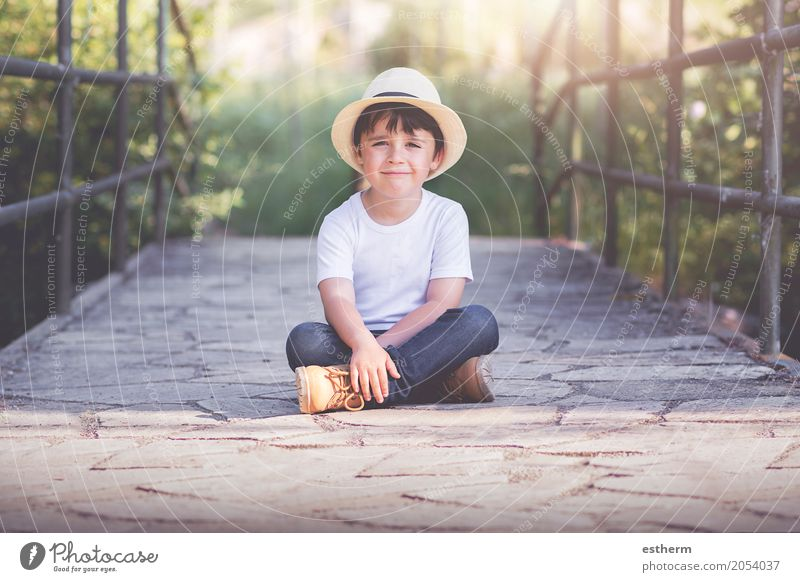 happy child Human being Child Nature Landscape Joy Spring Emotions Funny Boy (child) Laughter Happy Garden Park Infancy Happiness Smiling