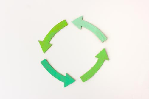 circulation Arrow Rotate Simple Sustainability Positive Attentive Conscientiously Disciplined Contentment Advancement Innovative Competent Planning Quality