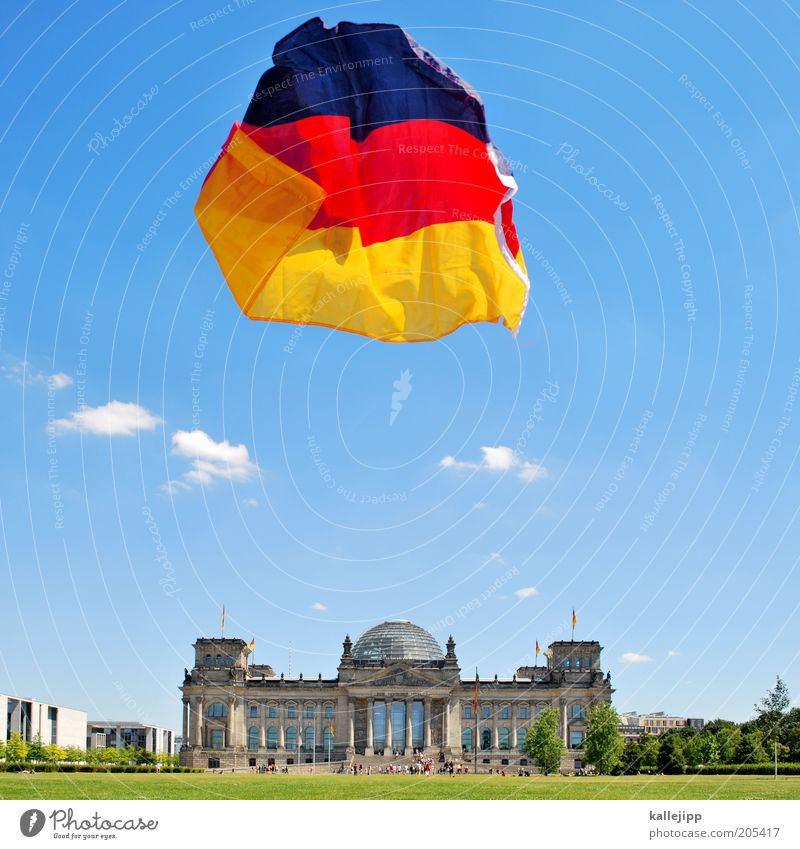 Summer Berlin Freedom Wind Future Tourism Flag German Flag Economy Landmark Politics and state Capital city City Nature Tourist Attraction Reichstag