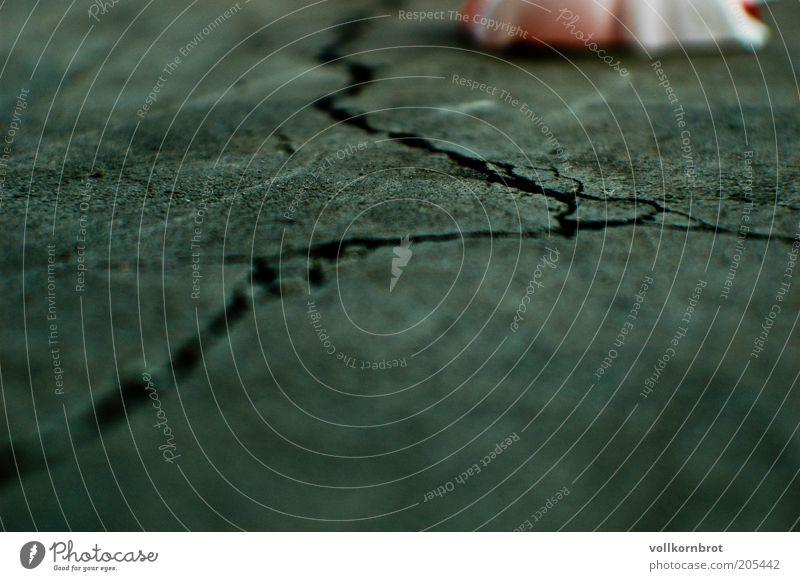 Old Street Gray Ground Broken Floor covering Asphalt Crack & Rip & Tear Pavement Traffic lane Torn Damage