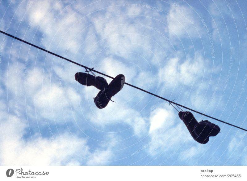 Sky Clouds Footwear Line String Dry Hang Sneakers Clothesline Skyward