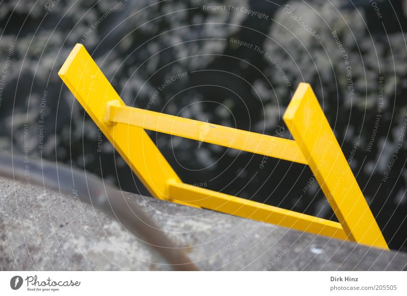 Water Ocean Yellow Coast Gray Fear Signs and labeling Perspective Tall Construction site Protection Sign Help Safety Baltic Sea Risk
