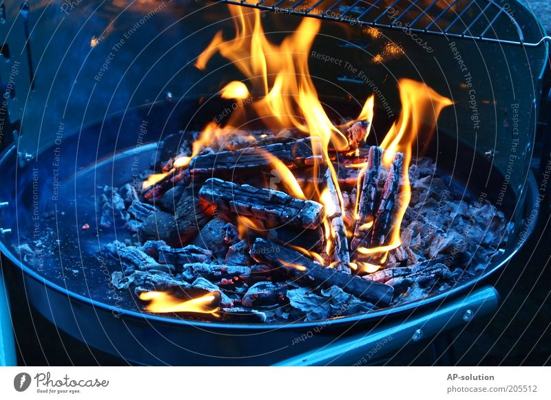 have a barbecue Barbecue (apparatus) Barbecue (event) Hot Blue Yellow Black Fire Burn Glow Fireplace Rust Grill Charcoal (cooking) BBQ season Coal Smoke Smoky