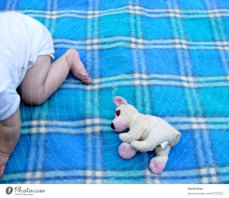Human being Child Girl Baby Blanket Teddy bear