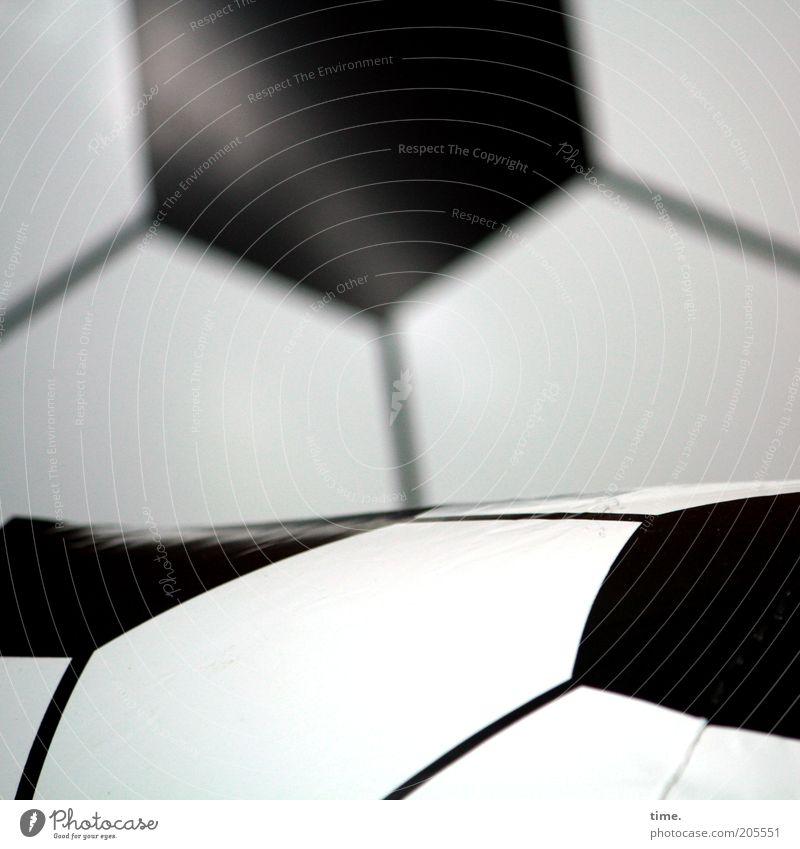 [H10.1] - Partner Soccer Foot ball Ball Plastic Line Depth of field Foreground Background picture achromatic Illustration pentagon Black & white photo