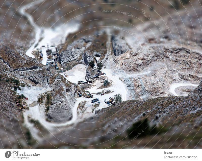 Street Mountain Lanes & trails Earth Island Truck Canyon Mining Miniature Tilt-Shift Santorini Quarry Model car Winding road Model landscape