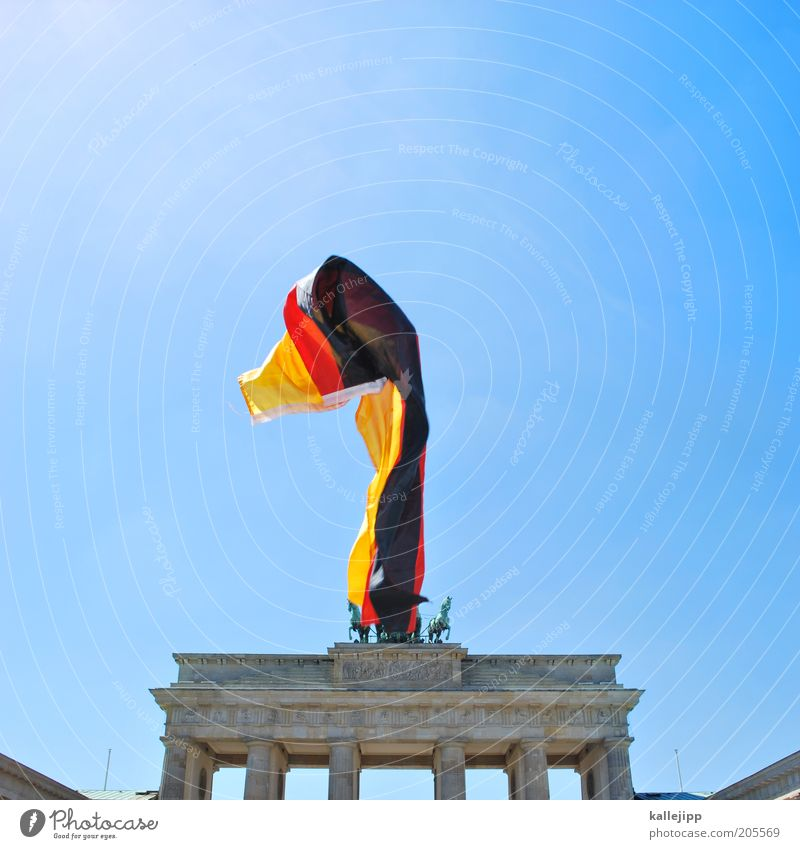 fan mile Feasts & Celebrations Sign Might Pride Berlin Brandenburg Gate Germany Flag Ensign national anthem German Unification Day Judder Political movements