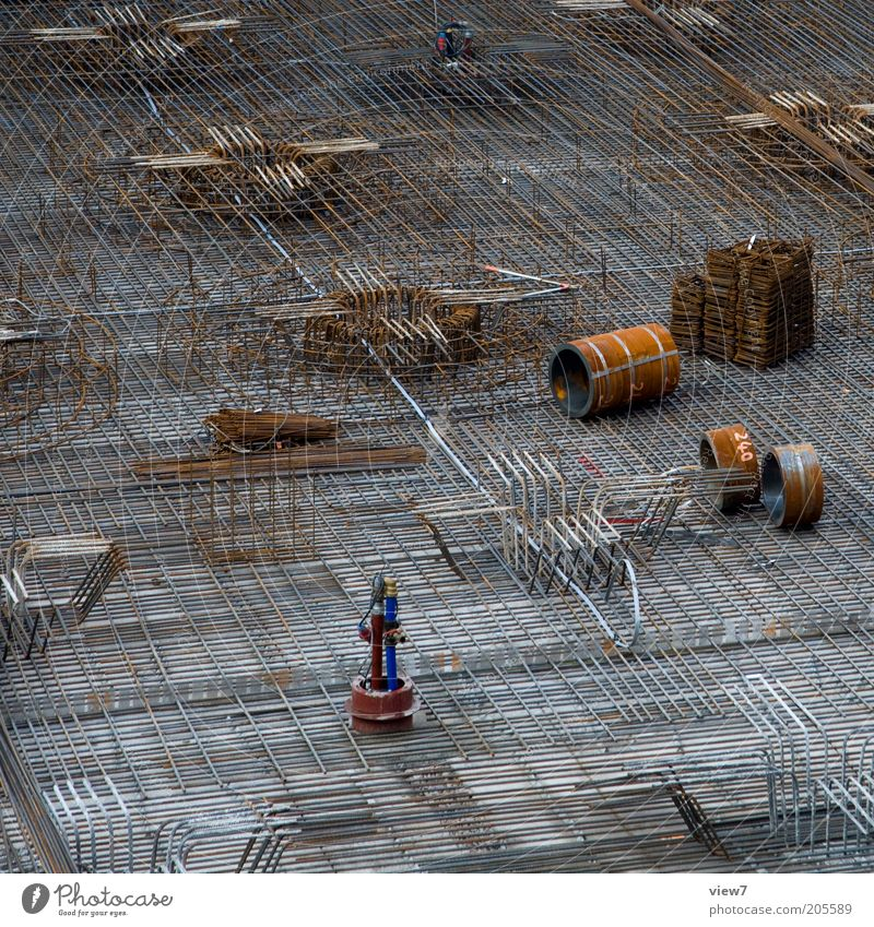 Brown Metal Elegant Concrete Arrangement New Authentic Construction site Steel Craft (trade) Rust Iron-pipe Economy Build Material Workplace