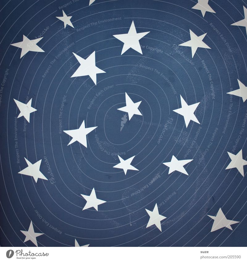 constellation Lifestyle Style Design Art Stars Wall (barrier) Wall (building) Facade Sign Graffiti Blue White Star (Symbol) Symbols and metaphors Plaster