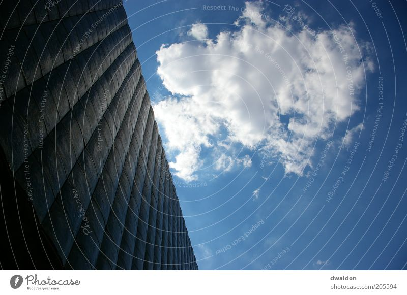 Sky Blue White Clouds Architecture Building Facade Modern High-rise Manmade structures Sky blue Prague Czech Republic
