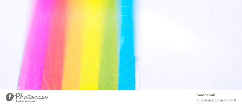 Style Design Esthetic Decoration Stripe Symbols and metaphors Rainbow Experimental Light Abstract RGB Spectral Colour tone Lined Prismatic colors