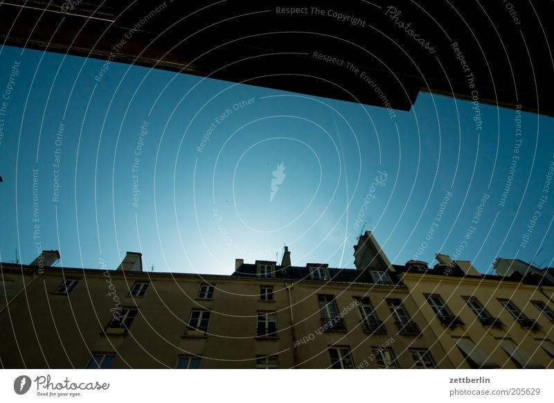 The sky over Paris marais Jewish Quarter France Place des Vosges House (Residential Structure) Facade Sky Blue Beautiful weather Cloudless sky Vacation & Travel