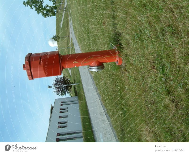 water hydrant Meadow Fire hydrant Red Leisure and hobbies Water