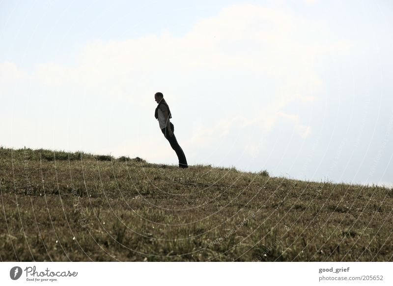 posture 1A Human being Masculine Youth (Young adults) Adults 18 - 30 years Environment Nature Landscape Plant Summer Autumn Wind Grass Park Meadow Hill Clothing