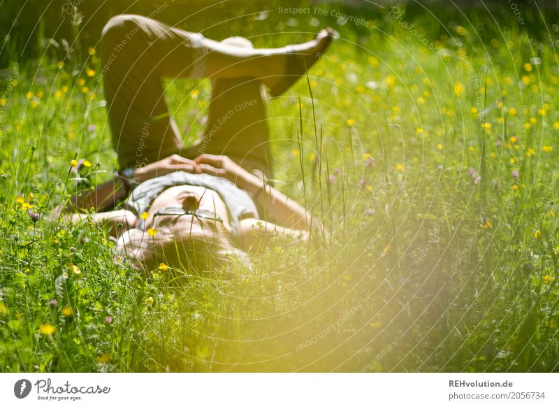 Jule's on the summer meadow. Healthy Wellness Well-being Contentment Relaxation Calm Leisure and hobbies Human being Feminine Young woman Youth (Young adults)