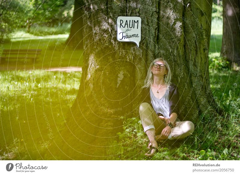 Human being Woman Nature Vacation & Travel Youth (Young adults) Young woman Green Tree Relaxation Calm Far-off places 18 - 30 years Adults Environment Lifestyle