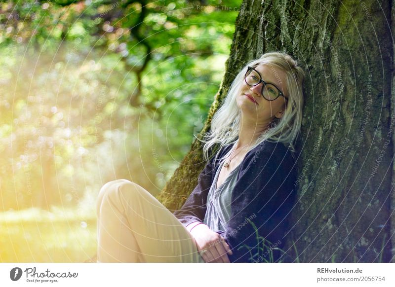 Woman Human being Nature Youth (Young adults) Tree Relaxation Calm 18 - 30 years Adults Lifestyle Environment Feminine Style Boy (child) Happy