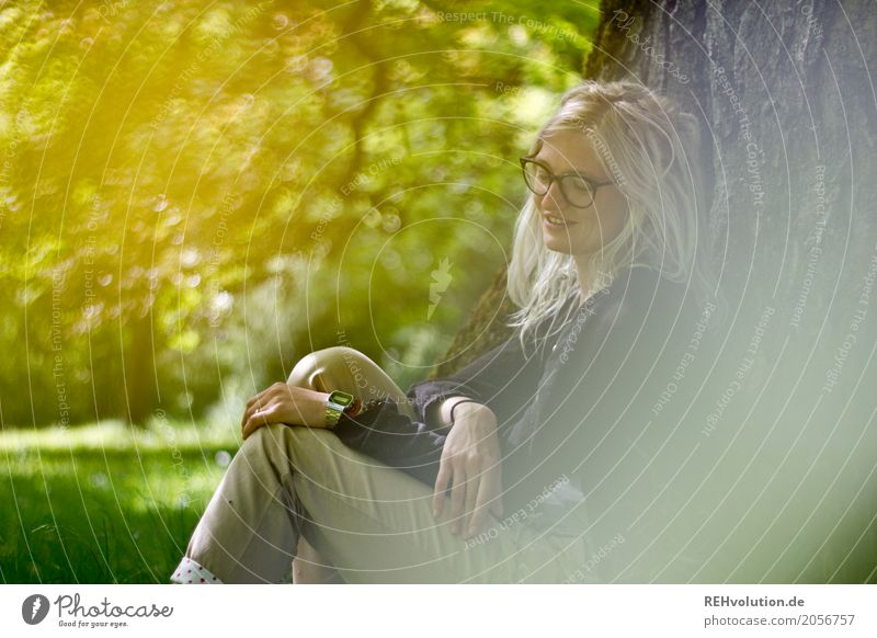Human being Woman Nature Youth (Young adults) Young woman Green Tree Relaxation Calm 18 - 30 years Adults Environment Meadow Natural Feminine Exceptional