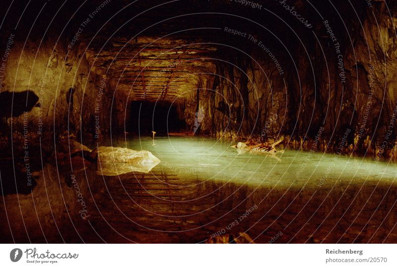 being Cave Tunnel Factory Long exposure Night Architecture Water