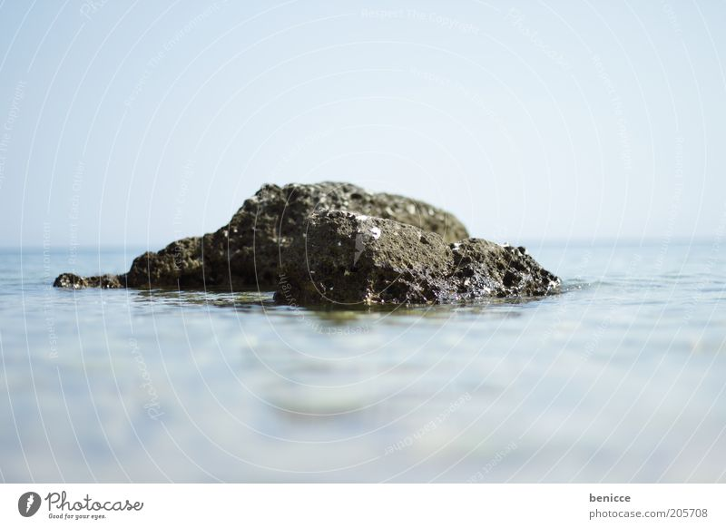 Water Sky Ocean Blue Summer Stone Lake Horizon Rock Surface Miniature Surface of water