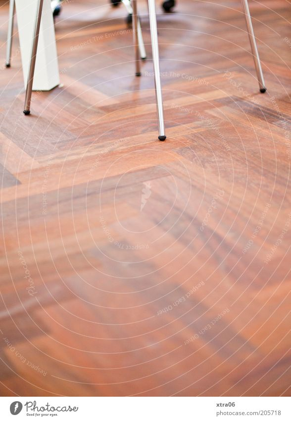 Wood Brown Metal Ground Floor covering Simple Parquet floor Wooden floor Laminate Chair leg