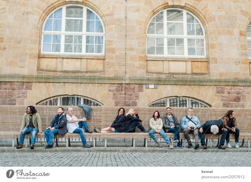 AST10 | Branches and Civis Lifestyle Contentment Relaxation Calm Leisure and hobbies Trip City trip Bench Wooden bench Human being Masculine Feminine Adults