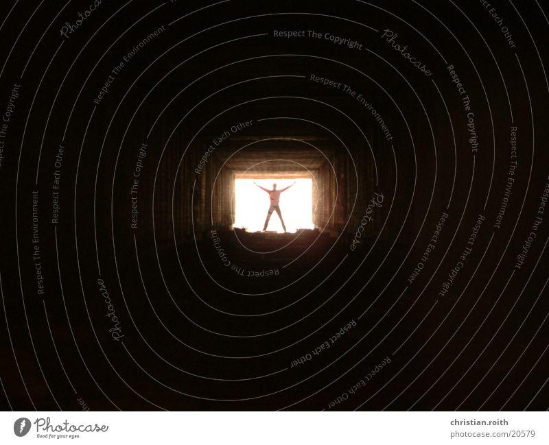 Human being Man Black Tunnel