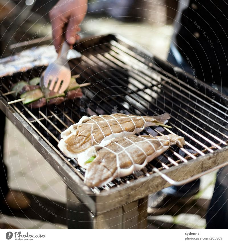 Human being Hand Nutrition Life Time Lifestyle Esthetic Fish Cooking & Baking Leisure and hobbies Gastronomy Barbecue (event) Rotate Meat Idea